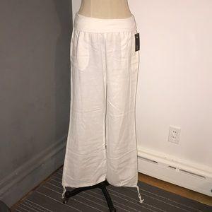 White linen pants. Size M